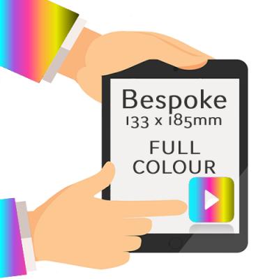 133 x 185mm - Printed Full Colour