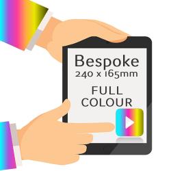 165 x 240mm - Printed Full Colour