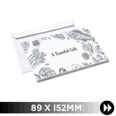 89 x 152mm - Printed Single Colour