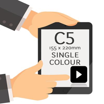 155 x 220mm - Printed Single Colour