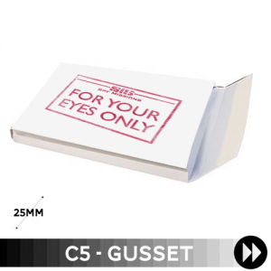 Gusset C5 - Printed Single Colour