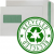 100% RECYCLED - Self Seal, Pocket, Natural Off White, Window, Green & Recycled Logo Inside - 90gsm +£0.05