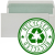 100% RECYCLED - Self Seal, Wallet, Natural Off White, Green & Recycled Logo Inside - 90gsm +£0.05